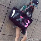 大包包新款女包韓版潮包帆布包女單肩包大容量手提購物袋單肩包  WD 時尚潮流