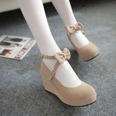 cosplay鞋洛麗塔公主鞋絆扣娃娃鞋女仆鞋 坡跟厚底鞋 鬆糕鞋少女