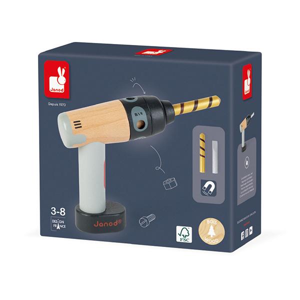 【法國Janod】小木匠創意玩-電鑽