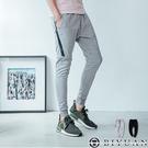 運動褲 【OBIYUAN】防水拉鍊 棉褲 休閒褲 縮口褲 長褲 【T20196】