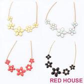 RED HOUSE-蕾赫斯-繽紛立體花朵造型項鍊(共4色)