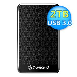 創見2.5吋USB 3.0 A3 行動外接硬碟【2TB】TS2TSJ25A3K
