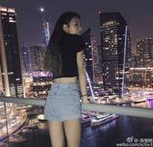 優惠兩天-2018夏季新款韓國復古高腰牛仔短褲女顯瘦彈力大碼捲?AA款熱褲潮【限時八八折】