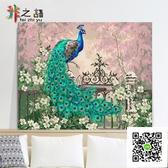 數字油畫diy 數字油畫客廳風景植物花卉動物手繪油彩裝飾畫 畫孔玫瑰女孩