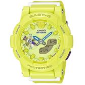 CASIO Baby-G 夢想衝刺運動休閒腕錶-檸檬黃