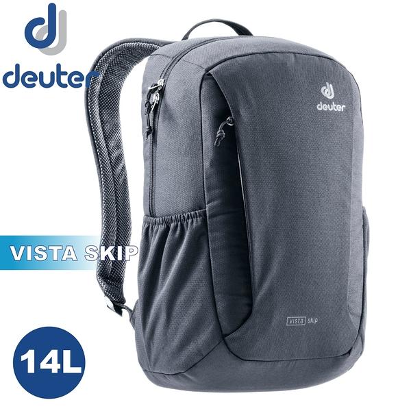 【Deuter 德國 VISTA SKIP 14L 休閒背包《黑》】3812021/雙肩後背包/登山包/戶外旅遊
