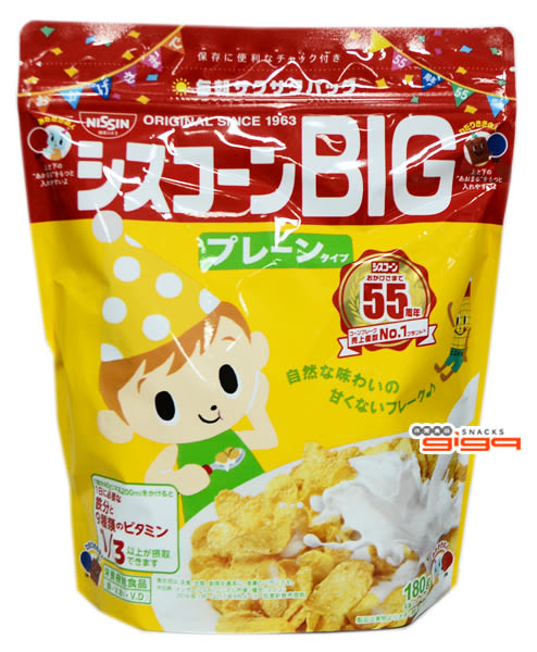 【吉嘉食品】日清 BIG早餐玉米片 1包180公克{4901620170011}[#1]