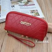 手拿錢包女長款新款拉錬大容量簡約時尚手機鑰匙零錢包手包潮 Korea時尚記