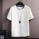夏季男士短袖T恤內搭白色潮牌打底衫潮流ins純棉寬鬆冰感上衣服 設計師