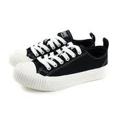 KANGOL 女款黑白厚底休閒帆布餅乾鞋-NO.6952200120