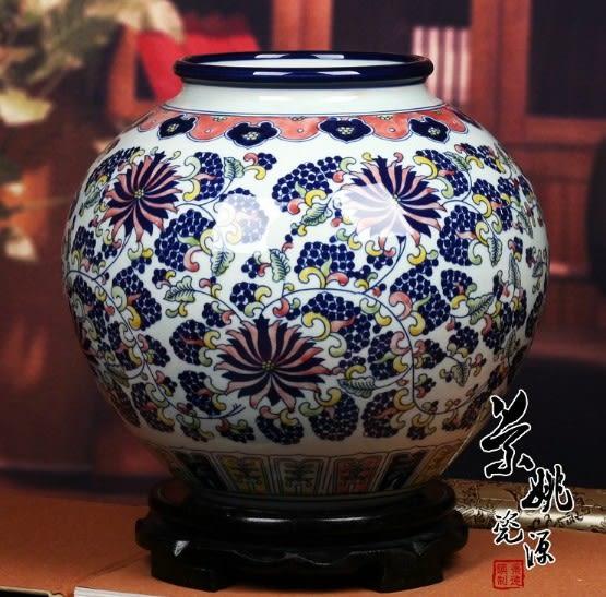 景德鎮陶瓷器青花瓷大花瓶 五彩陶瓷罐