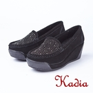 kadia.水鑽牛反毛楔型鞋(8510-...