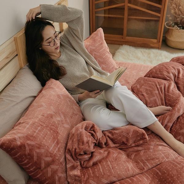《預購》法蘭絨兩用被套床包組 雙人【Pumpkin】台灣製 法蘭絨 床包 被套 翔仔居家