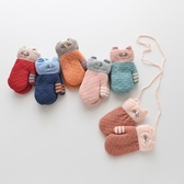 女童內刷毛手套 正韓兒童日系卡通手套
