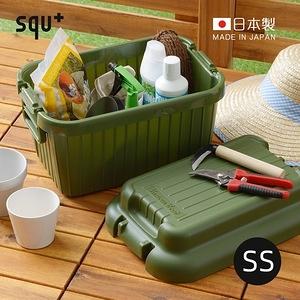 【日本squ+】VARIOUS BOAT日製耐壓收納箱-SS-4色可選軍綠