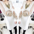 新款透明蕾絲燈籠袖 長版寬鬆上衣 連身裙...