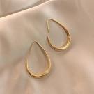 歐美金屬感蛋型耳掛女2021年新款潮大氣時尚耳環INS冷淡風耳飾