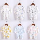 連體衣嬰兒連體衣秋冬新生兒衣服寶寶冬裝哈衣初生和尚服套裝 交換禮物
