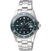Olympia Star 奧林比亞 尊爵日期石英手錶-綠/38mm 899831MS