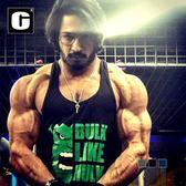 專業寬鬆款速幹健身背心健美訓練挖深工字無袖肌肉男運動汗背心棉