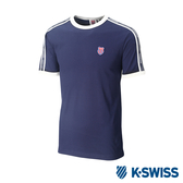 K-SWISS Soft Cool T-Shirt印花短袖T恤-男-藍