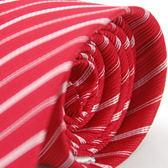 【Alpaca】紅底白斜紋領帶
