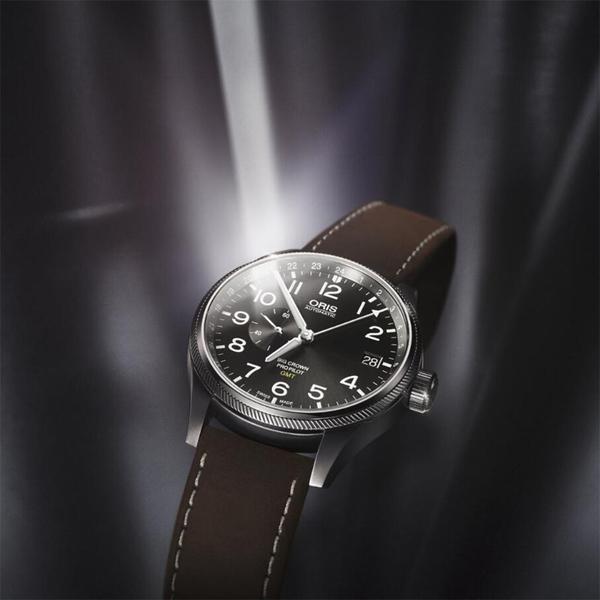 ORIS豪利時 Big Crown ProPilot GMT小秒針飛行錶-灰/45mm 0174877104063-0752205FC