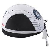 自行車頭巾 抗紫外線-經典齒輪白海造型男女單車運動頭巾73fo43【時尚巴黎】