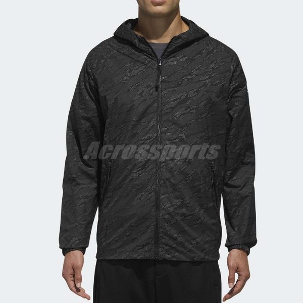 adidas 連帽外套 ID Reflect Windbreaker 3M 黑 銀 反光 防風夾克 男款 【PUMP306】 DM5274