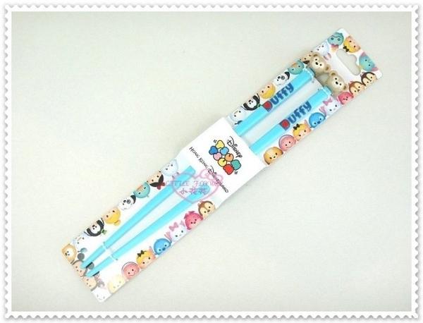 ♥小花花日本精品♥《Disney》迪士尼 達菲熊 趴姿 筷子 餐具 藍色 立體大頭 香港限定 90204708