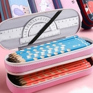 筆袋 網紅筆袋女孩簡約潮大容量雙層文具盒小學生兒童幼兒園【快速出貨八折搶購】