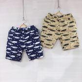 ☆棒棒糖童裝☆(B12021)夏男童滿版鯨魚星星短褲 5-15
