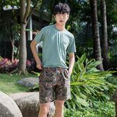 夏季男士寬鬆短褲海邊度假沙灘褲速干溫泉大碼花褲衩【販衣小築】