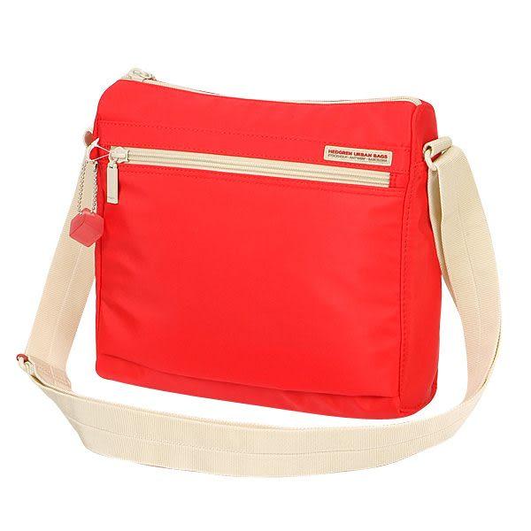 HEDGREN 輕量防水系列方型簡約側背包(鮮紅) HIC86000ST