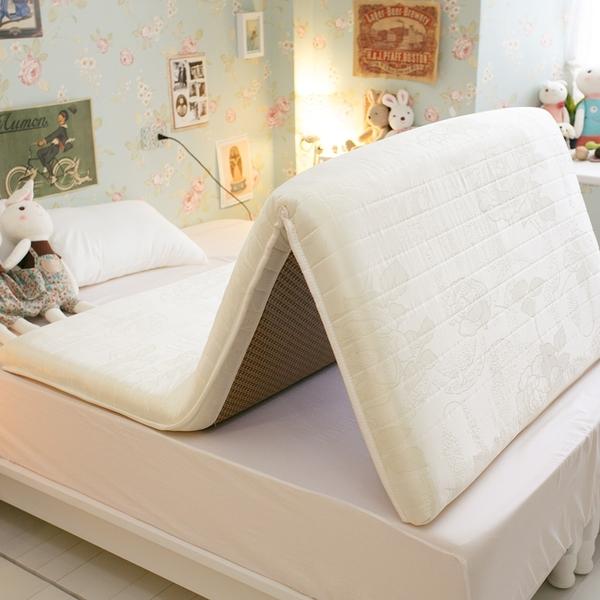 單人床墊 3尺X6.2尺 日系記憶棉獨立筒彈簧冬夏兩用收納床墊【外島無法配送】學生床墊 外宿租屋