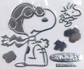 車之嚴選 cars_go 汽車用品【SN109】日本 SNOOPY 史努比 黏貼式車身貼飾 裝飾貼