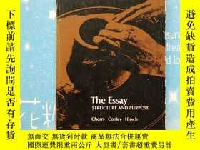 二手書博民逛書店THE罕見ESSAY STRUCTURE AND PURPOSE
