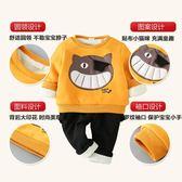 寶寶秋裝套裝男0一1-2歲潮新品秋冬季外套兩件套可愛嬰兒套裝