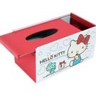 【震撼精品百貨】Hello Kitty 凱蒂貓~台灣授權三麗鷗HELLO KITTY木製面紙盒-紅白*38730