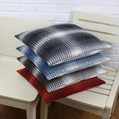 居家坐墊風格紋棉麻中厚沙發墊椅墊居家布藝辦公室坐墊飄窗墊 伊莎公主