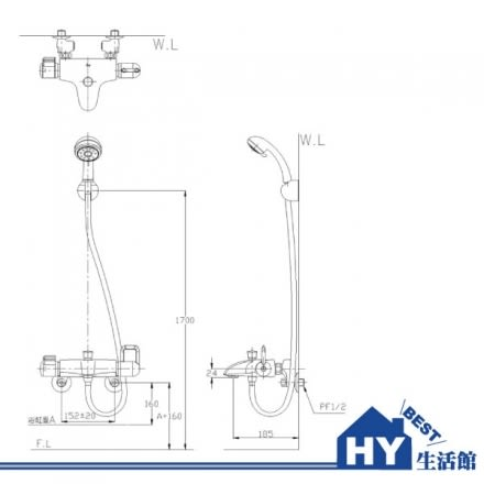 HCG 和成 BF3755T 生物能科技恆溫沐浴龍頭 -《HY生活館》水電材料專賣店
