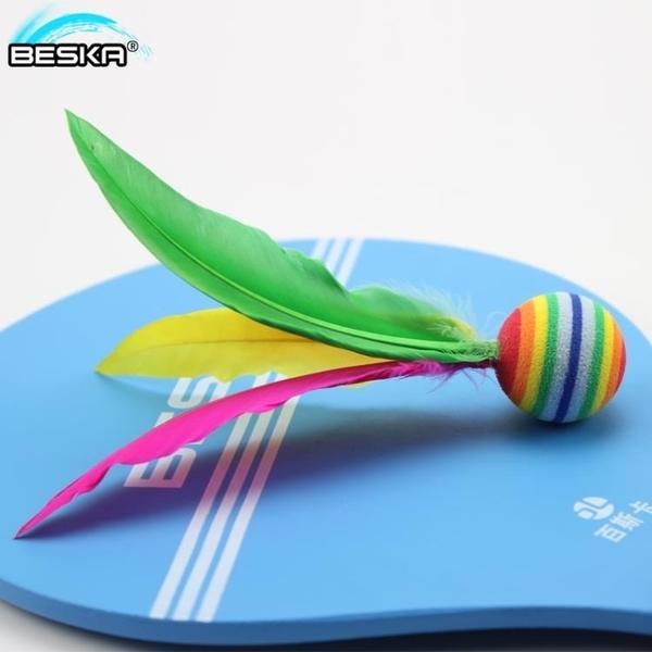 板羽球拍 大頭球 大頭三毛球 高彈性大頭板羽球 兒童娛樂板球 海綿球10個裝 喵可可