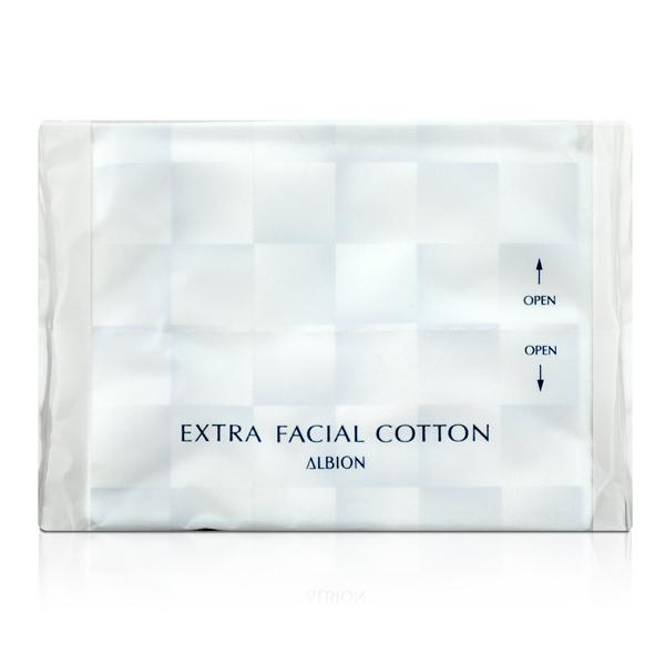 ALBION 艾倫比亞 EXTRA FACIAL COTTON 化妝棉 (2枚入) 【橘子水美妝】