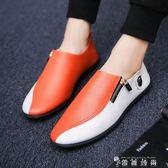 男士休閒豆豆鞋夏季韓版潮流懶人軟面皮鞋男鞋社會精神小伙潮鞋子 時尚潮流