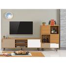 【森可家居】柯瑪8.7尺L櫃(全組) 7ZX401-2 客廳高低櫃 視聽櫃 木紋質感  無印風 北歐風