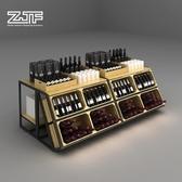 紅酒櫃眾匠坊ZJF 紅酒中島柜展示架流水臺高低桌食品促銷堆頭超市貨架D4