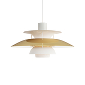 Louis Poulsen PH 5 50cm 保羅漢寧森 霧面白色系列 標準型 四層次 吊燈 - 黃銅特殊款(125th 週年紀念)