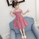 兒童洋裝 女童2020新款夏裝洋裝中大童純棉露肩吊帶裙洋氣淑女公主裙子潮