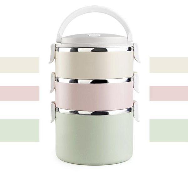 可愛不銹鋼日式多層保溫飯盒大容量保溫桶分格3層學生便當盒餐 奇幻樂園