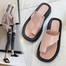 套趾平跟涼拖鞋女夏季2021時尚百搭韓版夾腳趾人字拖平底沙灘鞋潮『潮流世家』